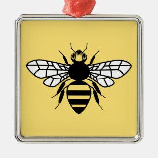 Manchester-Biene Silbernes Ornament