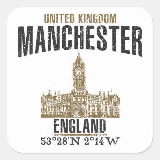 Manchester Quadratischer Aufkleber
