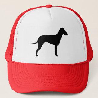 Manchester-Terrier mit natürlicher Ohr-Silhouette Truckerkappe