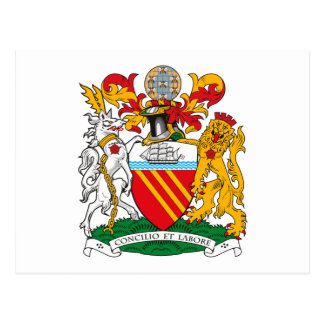 Manchester-Wappen Postkarte