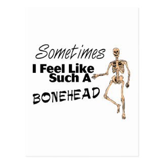 Manchmal fühle mich ich wie solch ein Dummkopf Postkarte