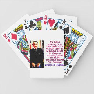 Manchmal Geschichte und Schicksal - Lyndon Johnson Bicycle Spielkarten