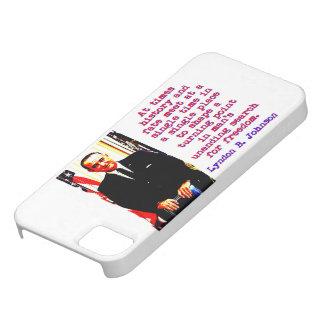 Manchmal Geschichte und Schicksal - Lyndon Johnson Etui Fürs iPhone 5