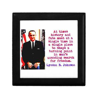 Manchmal Geschichte und Schicksal - Lyndon Johnson Geschenkbox