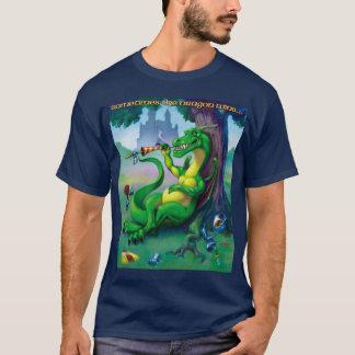 Manchmal gewinnt der Drache Grün T-Shirt