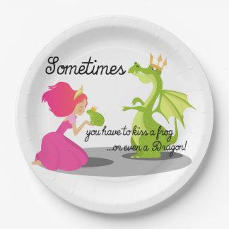 Manchmal Sie Bedarf, einen Frosch oder einen Pappteller