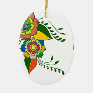 mandala2 flower keramik ornament