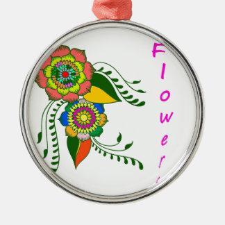 mandala2 flower silbernes ornament