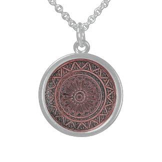 Mandala 010 in Brown Sterling Silberkette