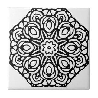 Mandala 6-Kerzen-Blume Keramikfliese