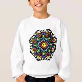 Mandala 6-Kerzen-Blumenfarbversion Sweatshirt
