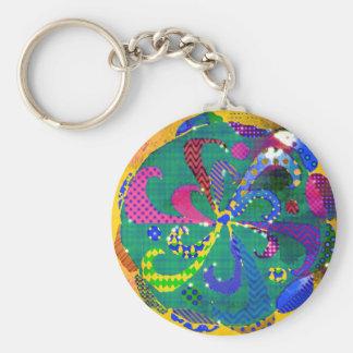 Mandala abstrakt schlüsselanhänger