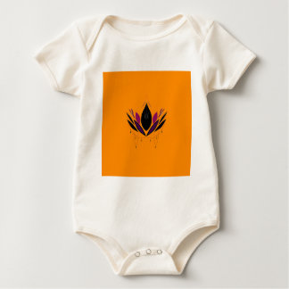 Mandala auf Gold Baby Strampler