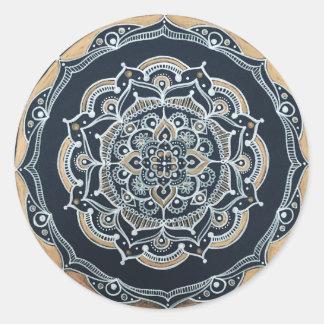 Mandala-Aufkleber Runder Aufkleber