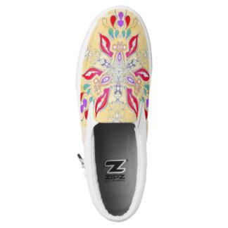 Mandala-Beleg an Slip-On Sneaker