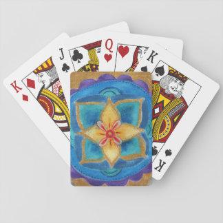 Mandala-Blumen-klassische Spielkarten