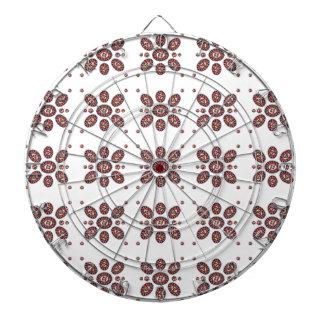 Mandala-Blumen-Muster Dartscheibe