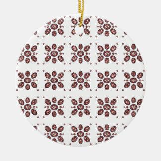 Mandala-Blumen-Muster Keramik Ornament