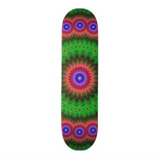 Mandala-Blumenblumenstrauß 19,1 Cm Old School Skateboard Deck