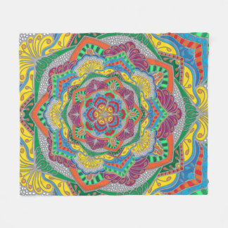 Mandala-Decke Fleecedecke