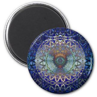 Mandala des Noedic Netz-Magneten Runder Magnet 5,1 Cm