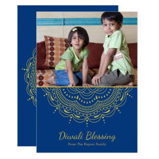 Mandala Diwali Gruß-Karte - kundenspezifische Karte