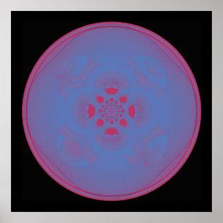 Mandala-Fraktal Plakatdruck