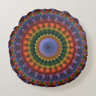 Mandala für die Massen Rundes Kissen