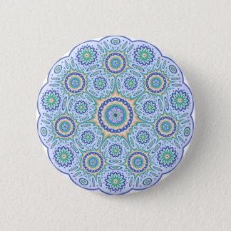 Mandala-geometrischer Standard, 2 ¼ Zoll-runder Runder Button 5,7 Cm