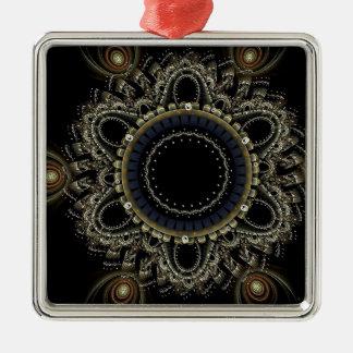 Mandala-Geschenke Silbernes Ornament