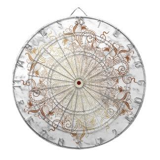 Mandala - Gold u. Marmor Dartscheibe