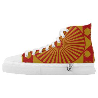 Mandala:  Gold u. Rost Hoch-geschnittene Sneaker