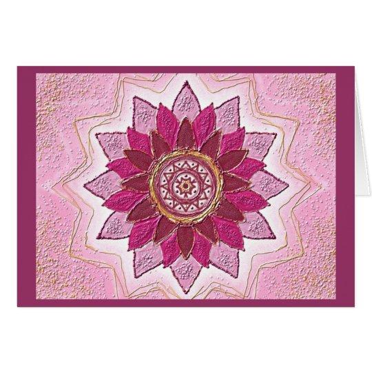 Mandala-Grußkarte 01 I-M Rot/Rosa Karte