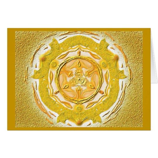Mandala-Grußkarte 04 I-M Gold Karte
