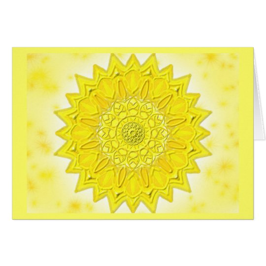 Mandala-Grußkarte 05 I-M Gelb Karte