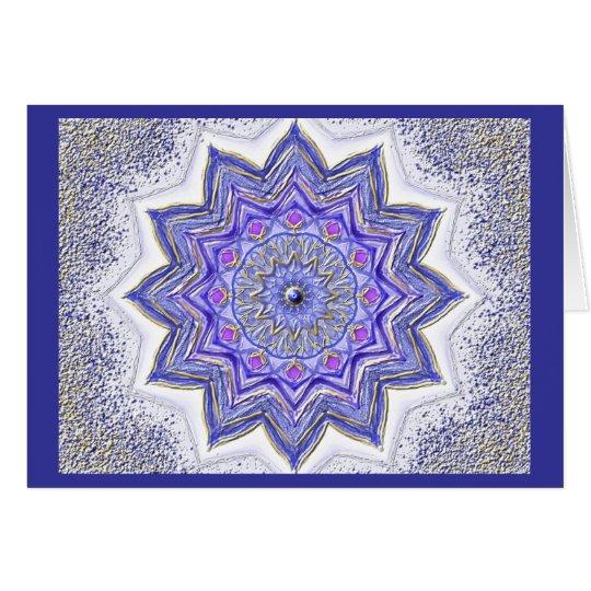 Mandala-Grußkarte 09 I-M Blau Karte
