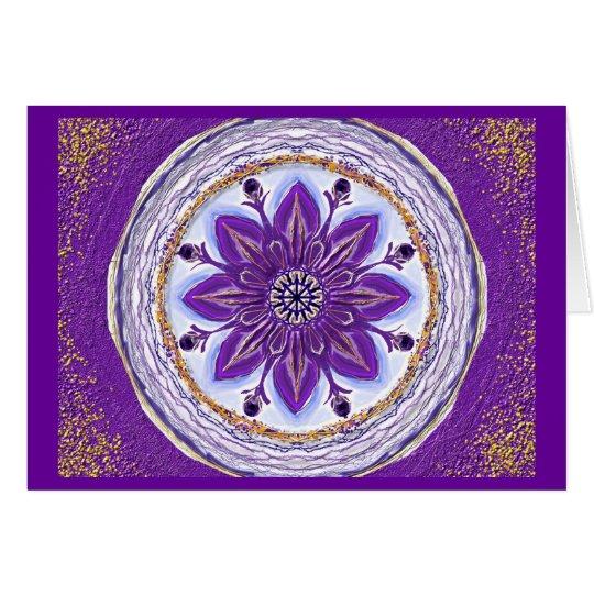 Mandala-Grußkarte 10 I-M Königsblau Karte