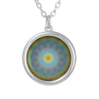 Mandala-heilige Geometrie - 13 Regenbogen Versilberte Kette