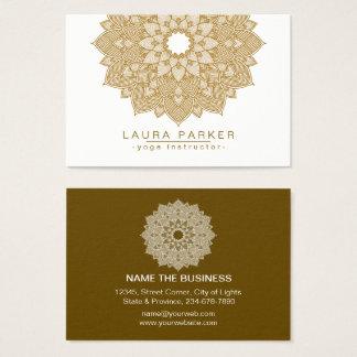 Mandala-Lotos-Blumen-Yoga-Meditation holistisch Visitenkarte