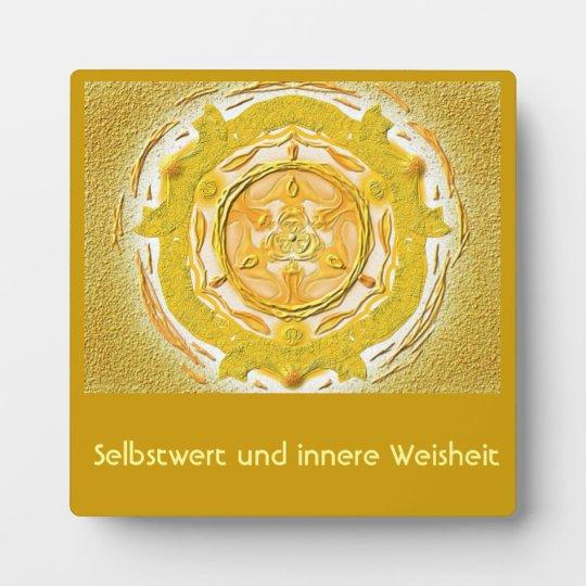Mandala-Meditationsplatte, klein  I-M Gold Fotoplatte