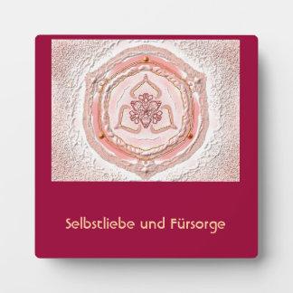 Mandala-Meditationsplatte, klein I-M Hellkoralle Fotoplatte
