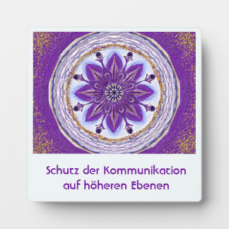 Mandala-Meditationsplatte,klein I-M Königsblau Fotoplatte