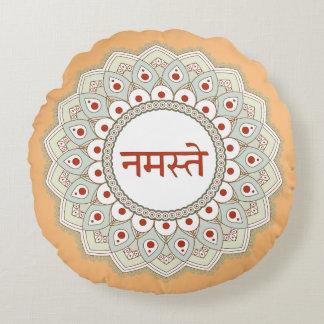 Mandala Namaste Yoga-Frauen-Kissen Rundes Kissen