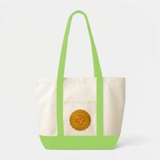 MANDALA OM - orange Tragetasche