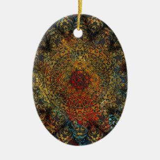 Mandala Ovales Keramik Ornament