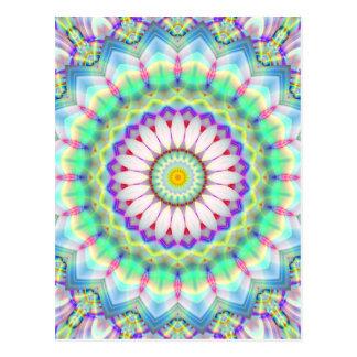 Mandala-Patchworkhellblaues geschaffen durch Tutti Postkarte