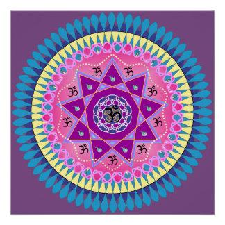Mandala-Plakat Poster