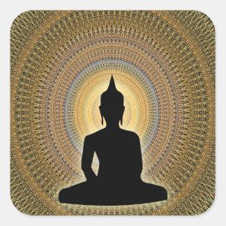 Mandala Quadratischer Aufkleber