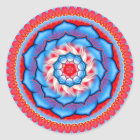 Mandala-Rosette Runder Aufkleber