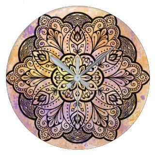 Mandala-runde Wanduhr